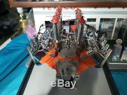 1/6 Scale Gmp Hilborn Injected Chrysler Hemi Drag Engine Limited Edition Orange