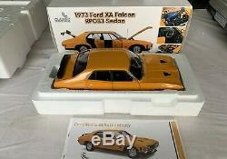 118 Scale Classic Carlectables Ford XA GT RP083 sedan in Yellow Fire 1 Of 1000