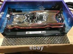 1966 118 Scale Batmobile In Limited Edition Of (3000) In Chrome With FIGURINES