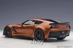 2016 Corvette C7 Z06 Orange in 118 Scale by AUTOart by AUTOart