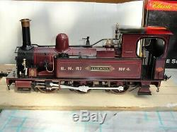 ACCUCRAFT 120.3 scale E20-4'CALEDONIA' 0-6-0 ELECTRIC, STEAM OUTLINE, TUSCAN RED