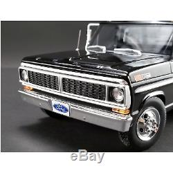 ACME 1/18 Scale 1970 Ford F-350 Ramp Truck in Black Diecast Scale
