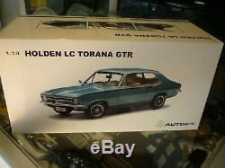 AUTOART 118 SCALE / HOLDEN LC TORANA GTR IN TAORMINA AQUA METALLIC withCOA