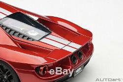 AUTOart 72943 Ford GT 2017 (Liquid Red/Silver Stripes) 118TH Scale