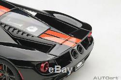 AUTOart 72945 Ford GT 2017 (Shadow Black/Orange Stripes) 118 Scale
