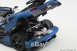 AUTOart 79018 Koenigsegg One1 (Matt Imperial Blue/Carbon Black) 118TH Scale
