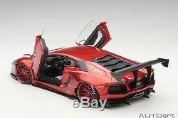 AUTOart 79109 Liberty Walk LB-Works Lamborghini Aventador (Met. Red) 118 Scale