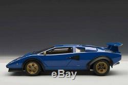 AUTOart Lamborghini Countach Walter Wolf Blue 1/18 scale Die Cast Car 74652 118