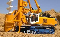 BYMO 25009 BAUER Drilling Rig BG40 with Auger Bauer Livery Diecast Scale 150