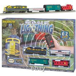Bachmann 01501 Blue Lightning Electric Train Set with E-Z App Bluetooth HO Scale