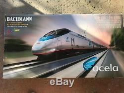 Bachmann Acela Express Amtrak HO Scale Spectrum Electric Train Set #01202 with Box