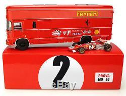 Brumm TS04 Ferrari 312B Italian GP 1970 F1 Race Transporter Set 1/43 Scale