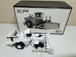 Caterpillar Cat 854G Wheeled Dozer White CCM Brass 187 Scale Model New