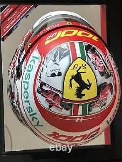 Charles Leclerc Ferrari 1000thGP 1/2 Scale Helmet Collectors Ltd Ed No 928/1000