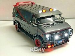 Customized 1983 GMC Vandura WORKING LIGHTS The A-Team TV Series 1/18 Scale