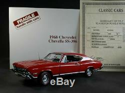 Danbury Mint 1968 Chevy Chevelle SS 396 Coupe 124 Scale Diecast Model Car Red