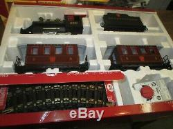 G Scale LGB # 72323 PRR Steam Loco with 2 Pass. Car Set / FB 304