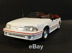 GMP 1989 Ford Mustang GT Convertible White 118 Scale Diecast #120 of 150 Car