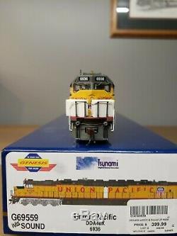 HO Scale Athearn Genesis UP Union Pacific DDA40X #6936 with Tsunami sound NIB