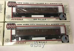 HO scale Proto 1000 MTA (NYC Transit) Subway 4 Car set Tuscan R17. #6 Lexington