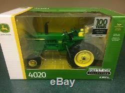 JOHN DEERE 100 Years of Tractors 4020 wide front Prestige 1/16 scale LP69416
