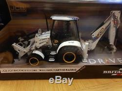 Jcb limited edition Williams Martini Racing Backhoe Model. Britains 132 Scale