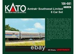 Kato 106-081 N Scale Amtrak Southwest Limited 8-Car Set with Display Unitrack