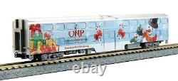 Kato 106-2016 Operation North Pole Christmas Train-Only Set Bi-Level Car N Scale