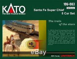 Kato 106083 Santa Fe Super Chief 8-Car Passenger Set N Scale
