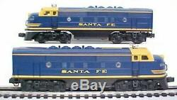 LIONEL O Scale 6-18117 Santa Fe F3 AA Units Set Diesel Locomotives Blue NEW