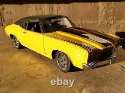 Lane Exact Detail 1970 Chevy Chevelle Cheap Street 118 Scale Diecast Car Yellow