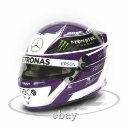 Lewis Hamilton 2020 Mini Helmet Mercedes AMG F1 12 Scale Free Shipping