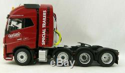 Marge Models 1915-02-01 Volvo FH16 8x4 Red Truck Prime Mover Nooteboom Scale