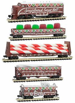 Micro-Trains MTL N-Scale Gingerbread Sugar Belt Christmas 2019 Train Set