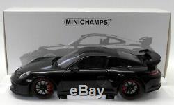 Minichamps 1/18 Scale Diecast 110 067021 Porsche 911 GT3 2017 Black Metallic