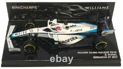 Minichamps Williams F1 FW43 #63 Hungarian GP 2020 George Russell 1/43 Scale