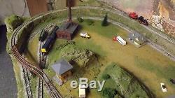 N Scale Train Set Layout Nice! Two Train Operation 24 X 48 Safe Shipping