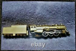 N-scale Jamco Ltd 4-6-2 Brass Locomotive with12 Wheel Tender, Undecorated