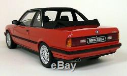 Otto 1/18 Scale BMW E30 325i TC2 Baur 1988 Red Resin Model Car
