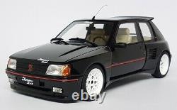 Otto 1/18 Scale Peugeot 205 GTi Dimma 1989 Black White Wheels Resin Model Car