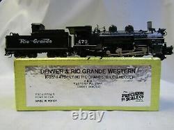 PRECISION SCALE CO. 15214-5 HOn3 D&RGW K-28 RD# 473 GREEN BOILER CROWN ED. #09/38