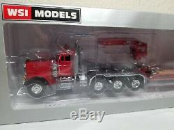 Peterbilt 379 with Rogers 4-Axle Lowboy Red Sword / WSI 150 Scale Model New