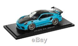 Porsche 911 GT3 RS with Weissach package Diecast Model Car 118 Scale Miami Blue