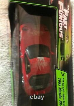 Racing Champions Fast And The Furious 1993 Mazda RX-7 118 Scale Diecast VHTF