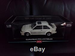 SUNSTAR Ford Escort RS Turbo 1984 White 118 SCALE Brand New Model
