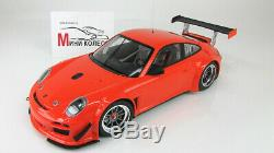 Scale car 118, PORSCHE 911 GT3R STREET 2010 ORANGE