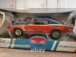 Supercar Collectibles 1968 Plymouth Cuda Sox & Martin 118 Scale Diecast Car LE