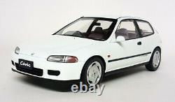 Tarmac 1/18 Scale Honda Civic EG6 SIR II 1992 White Resin Model Car Ltd 250pcs