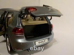 VW Golf MK6 Light Blue, 1/18 Scale Paudi Diecast Model Car (Rare)