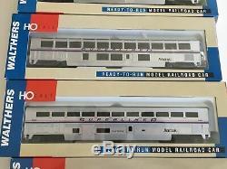 Walthers HO Scale Amtrack 5 Car Phase IV Superliner-B set NIB